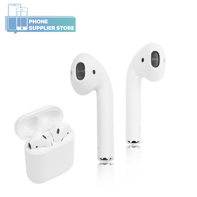 Apple AirPods 2nd génération écouteur sans fil, utilisé Original avec étui de charge, Bluetooth dans l'oreille pour iPhone iPad MacBook