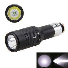 Portable Mini Lantern Aluminum 2000LM Q5 LED Flashlight Torch Built-in Li Battery Charged by Car Cigarette Lighter Socket