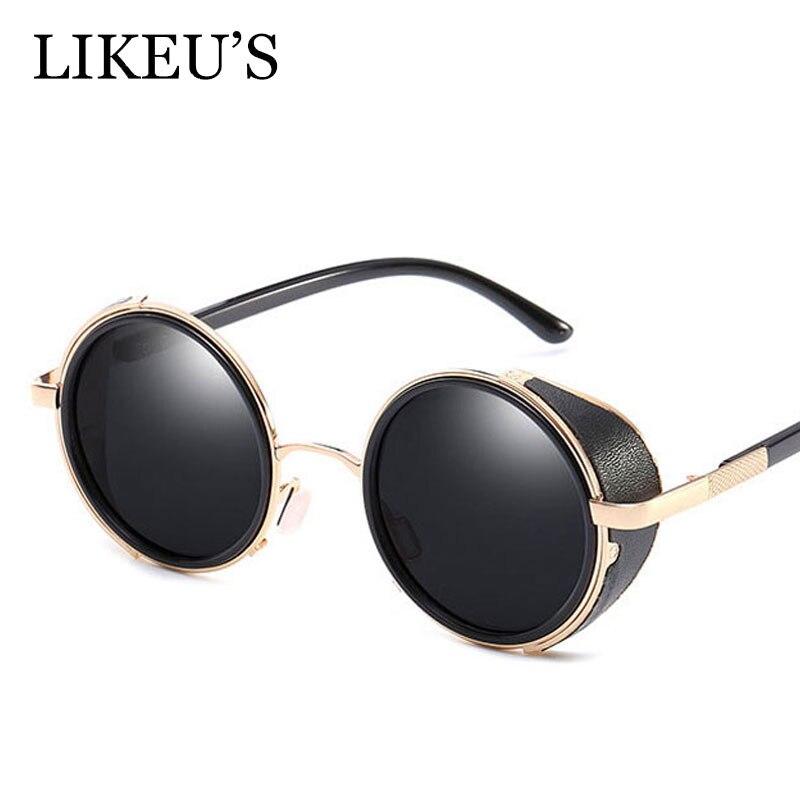 Designer Sunglasses Steampunk Goggles Circle Vintage Brand Eyewear Women UV400 LIKEU'S