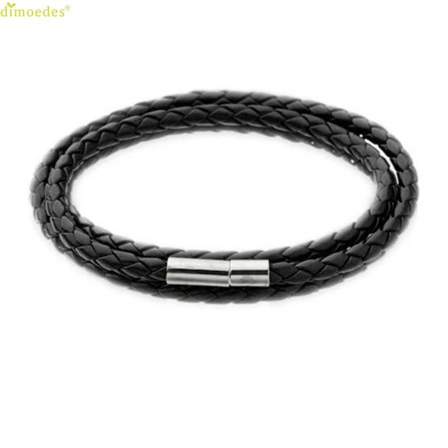2018 pulseiras para mulheres marca nova moda masculina pulseiras de couro charme pulseira artesanal corda redonda charme homme femme #