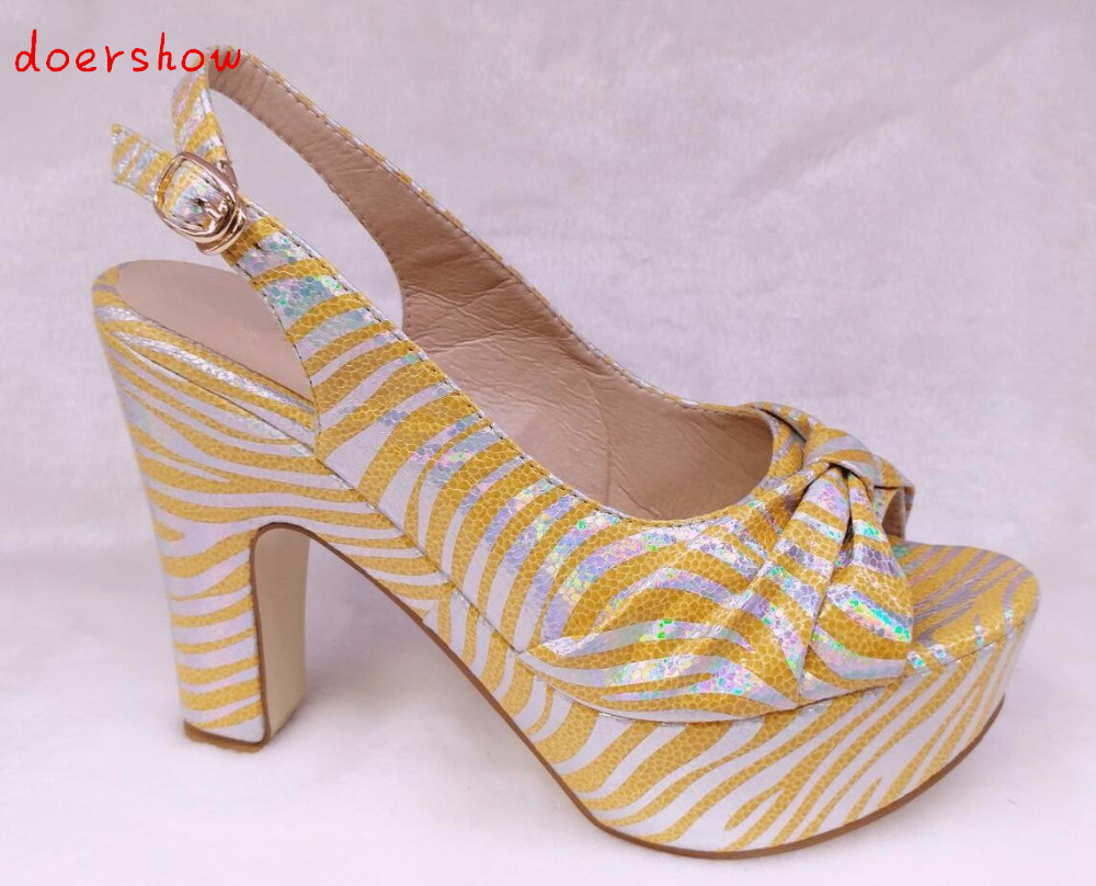 doershow free shipping African High Heels Shoes With yellow High Quality African Pumps Shoes In Stock !!  HHY1-20 quality guarantee yellow matte vinyl wrap film foil car sticker with air bubble free fedex free shipping size 1 52 30m roll