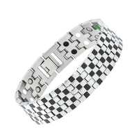 Brand New Design 316L Stainless Steel Bio Magnetic Bracelets For Men Fashion Health Energy Bracelet Bangle