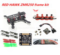 DIY FPV race mini drone ZMR250 frame kit pure carbon frame + RED HAWK DX2205 2300KV + RED HAWK BL ESC OPTO + NAZE32 10DOF