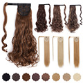 AISI BEAUTY 22'' 24'' Women Long Wavy Synthetic Wrap Around Hairpieces Fake Hair Ponytail Extensions High Temperature Fiber