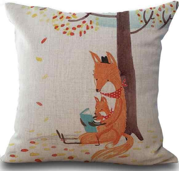 Новый мультфильм Лиса с Чехлы для подушек Прохладный лен наволочка стул картина маслом диван-кровать автомобиль номер дома декабря Оптовая fg562