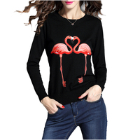 NYMPH Brand Design 2017 Autumn Winter New Luxury Fashion Jumper Women Sweaters Pullovers Knit Top Flamingos