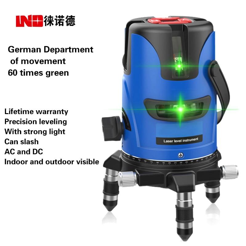 NEW LND Green Laser Level Outdoor Level Ultra-light cast line 5-line 3-line 2-line marking instrument цена