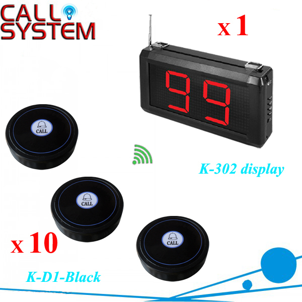 Made in china 1 display panel with 10 bell buzzer Service pager calling system