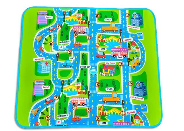 City Traffic Baby Play and Crawl Mat Playmat 130 x 160cm