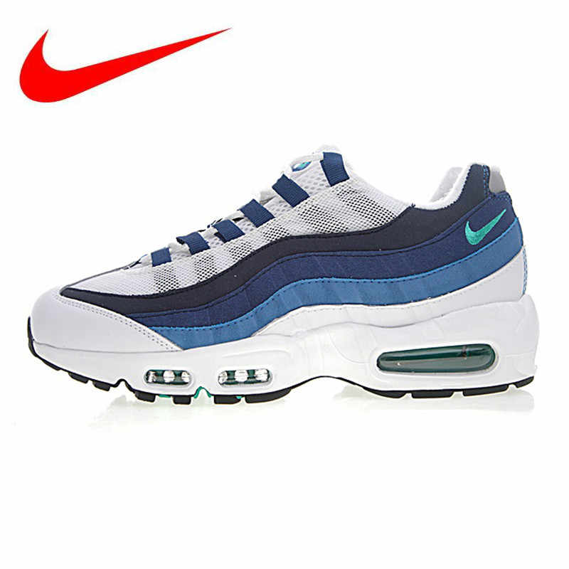 0125483ea9 Nike Air Max 95 OG Men's Running Shoes,Blue & White, Shock Absorption  Breathable