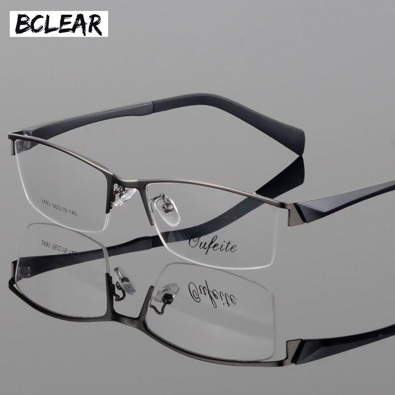 BCLEAR New myopia glasses mens fashion business casual half frame optical eyeglass 2493
