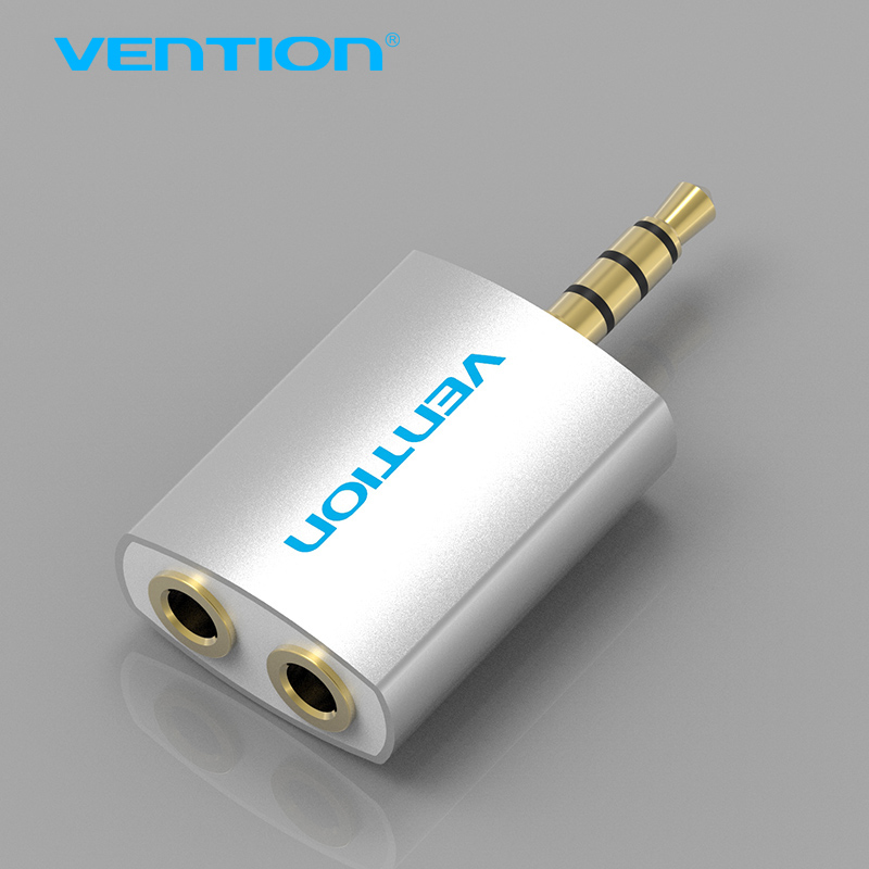 Vention 3.5mm Earphone Audio Splitter Connecter Adapter with mic 1 Male to 2 Female For Headphone PC Mobile Phone Mp3 Mp4 foonbe y type 3 5mm headphone male to dual female audio cables headphone splitter adapter plug stereo earphone splitters