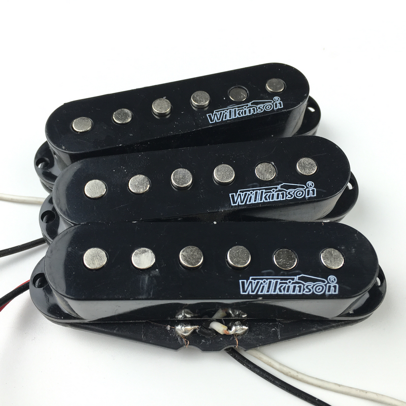 Free Shipping  Quality Wilkinson Lic Vintage Voice Single Coil Pickups for ST Black cream wilkinson lic st strat vintage voice single coil pickups fits for stratocaster
