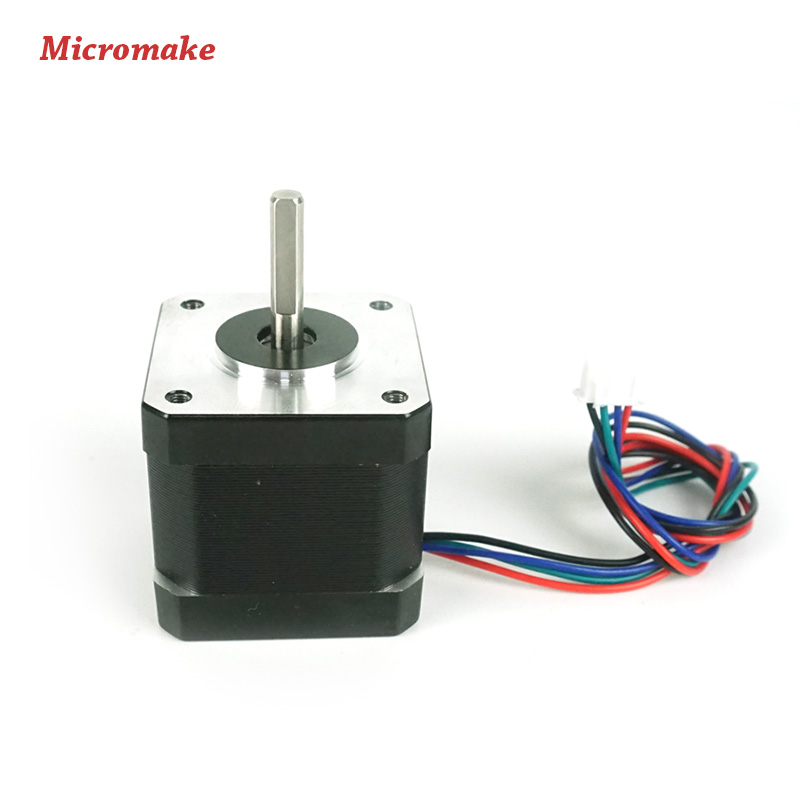 Prix pour Micromake 3D Imprimante Pièces 3 pcs 42 Moteurs pas à pas 1 pcs 48 Moteur pas à pas 12 V 1.7A pour Delta 3D imprimante