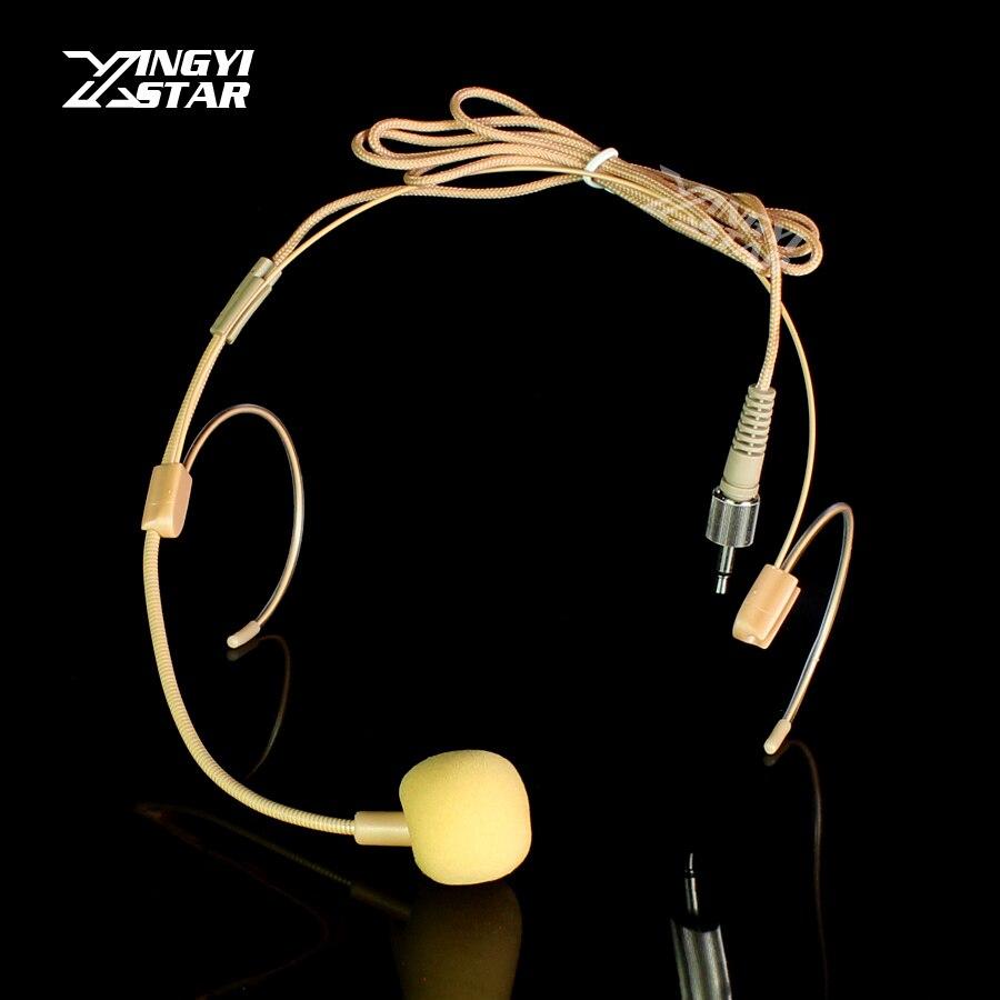 Realistisch Invisible 3,5mm Jack Schraube Abschließbar Headworn Headset Mikrofon Kondensator Mic Für Uhf Wireless Mikrofone Beltpack Sender Live-geräte