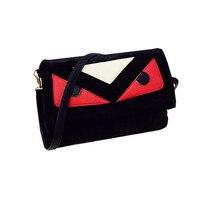2016 berühmte Designer Monsterauge Umschlag Clutch Bag Kleine Fur Schultertasche Luxus Handtaschen Frauen Velet Crossbody Messenger Bags