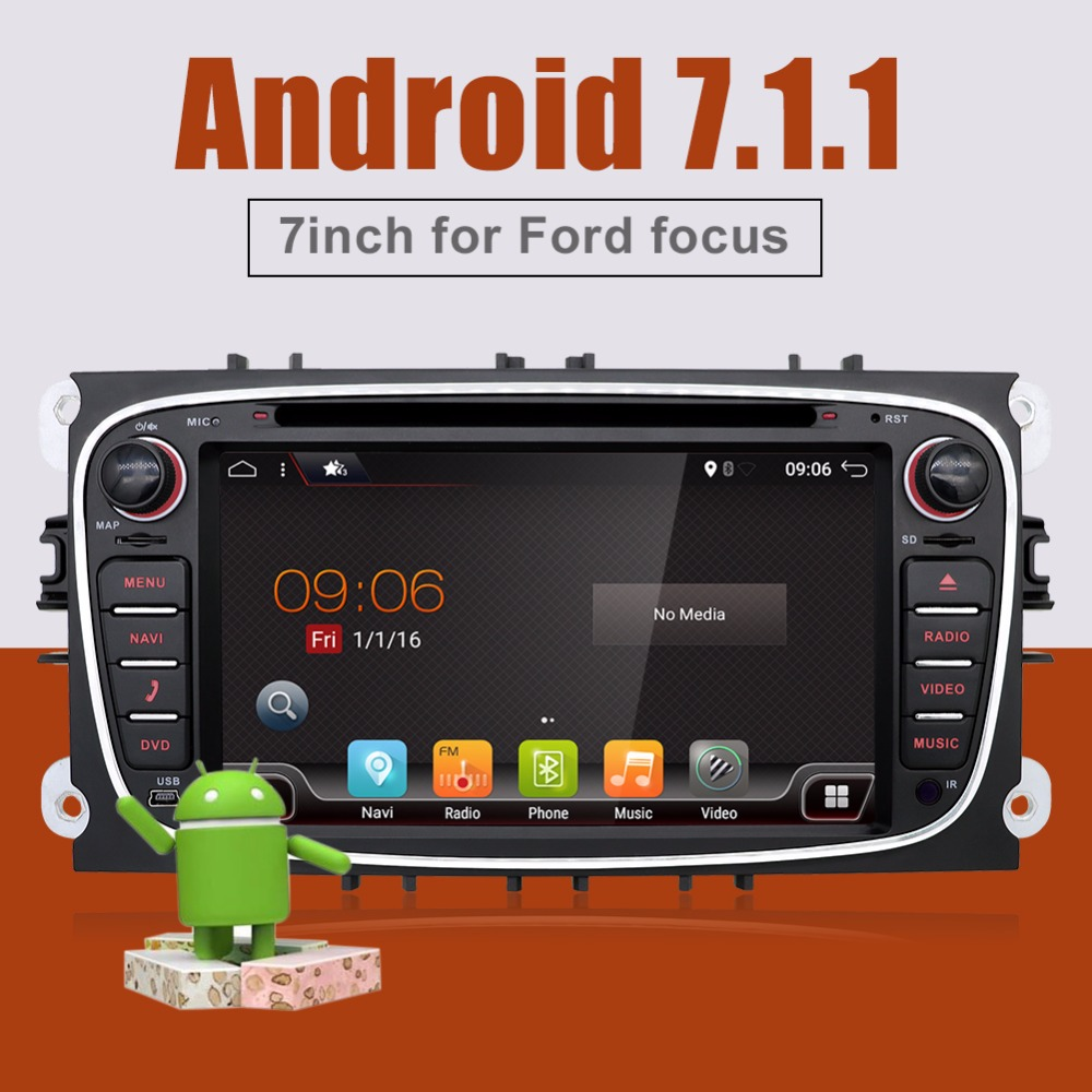 Bosion Quad Core 2din Android 7.1.1 Car DVD Radio for Ford Mondeo C-max S max Wifi 3G GPS Navigation Bluetooth SD Touch Screen