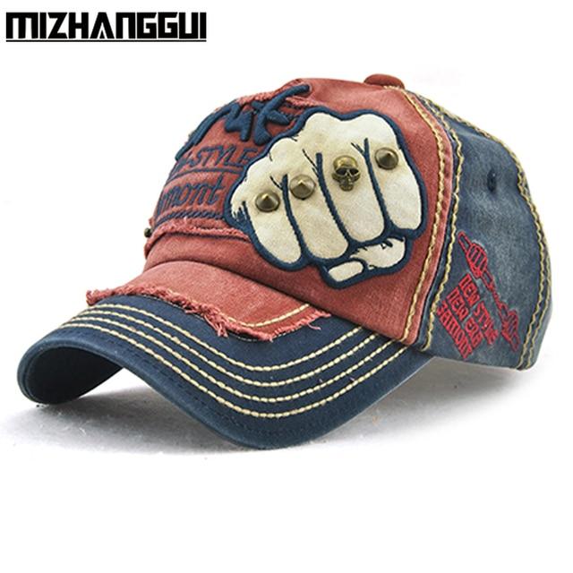 4293b29685f Baseball Cap Unisex with Rivet Fist Printed Patchwork Style Women s Caps  Hip Hop Snapback Men Women Hat Golf Cap Best Quality