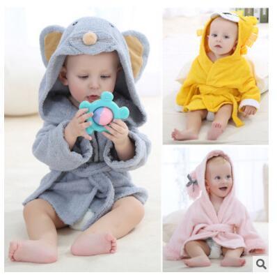 Primavera Otoño Algodón Bebé Albornoz Animales de Dibujos Animados Camisón Túnicas Cabos para 0-12 Meses Baby Boy Kids Niña Pijamas ropa de dormir