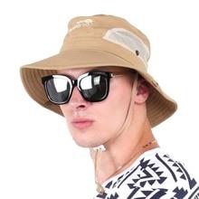 Men Solid font b Hiking b font Hats Sun Protection font b Hiking b font Bucket