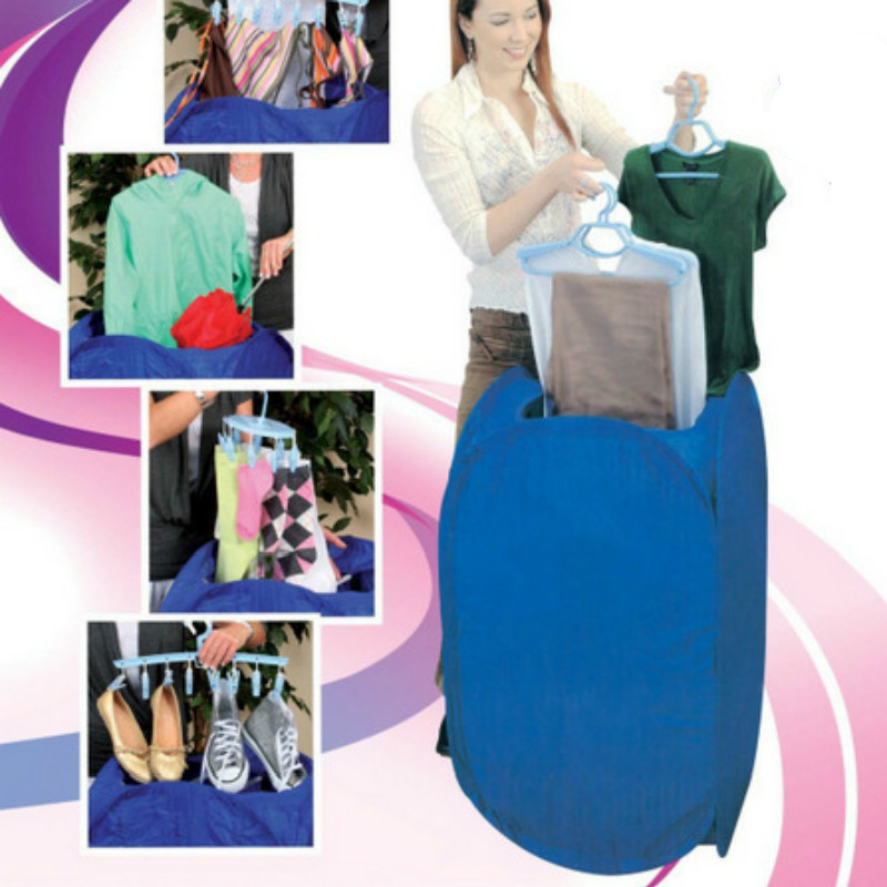 water clean Portable Electric Air Clothes Dryer tool Folding Fast Drying Machine 800W Multipurpose shanghai kuaiqin kq 5 multifunctional shoes dryer w deodorization sterilization drying warmth