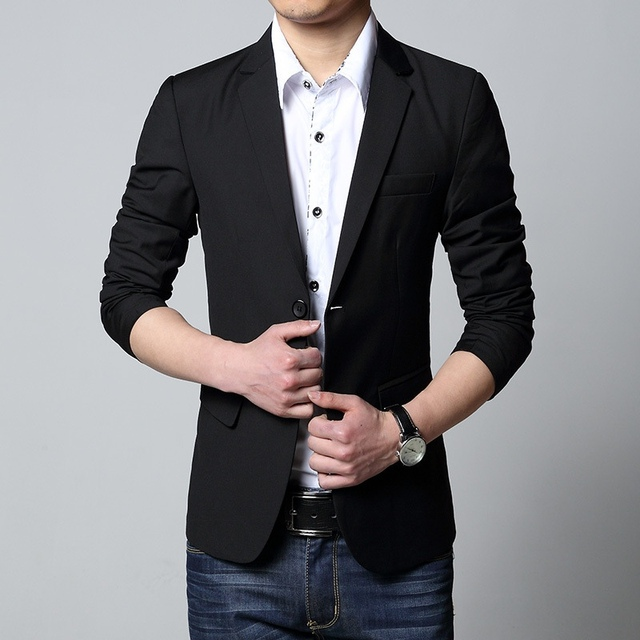 Мужчины Костюм Куртки 2016 Мода Свадебные Tuxedo Slim Fit Бизнес Блейзер Плюс Размер L-5XL Терно Masculino Casaco KR2