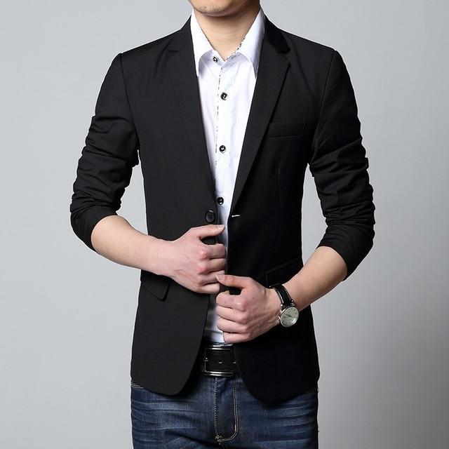 Men Suit Jackets 2016 Fashion Wedding Tuxedo Slim Fit Business Blazer Plus Size L-5XL Casaco Terno Masculino KR2