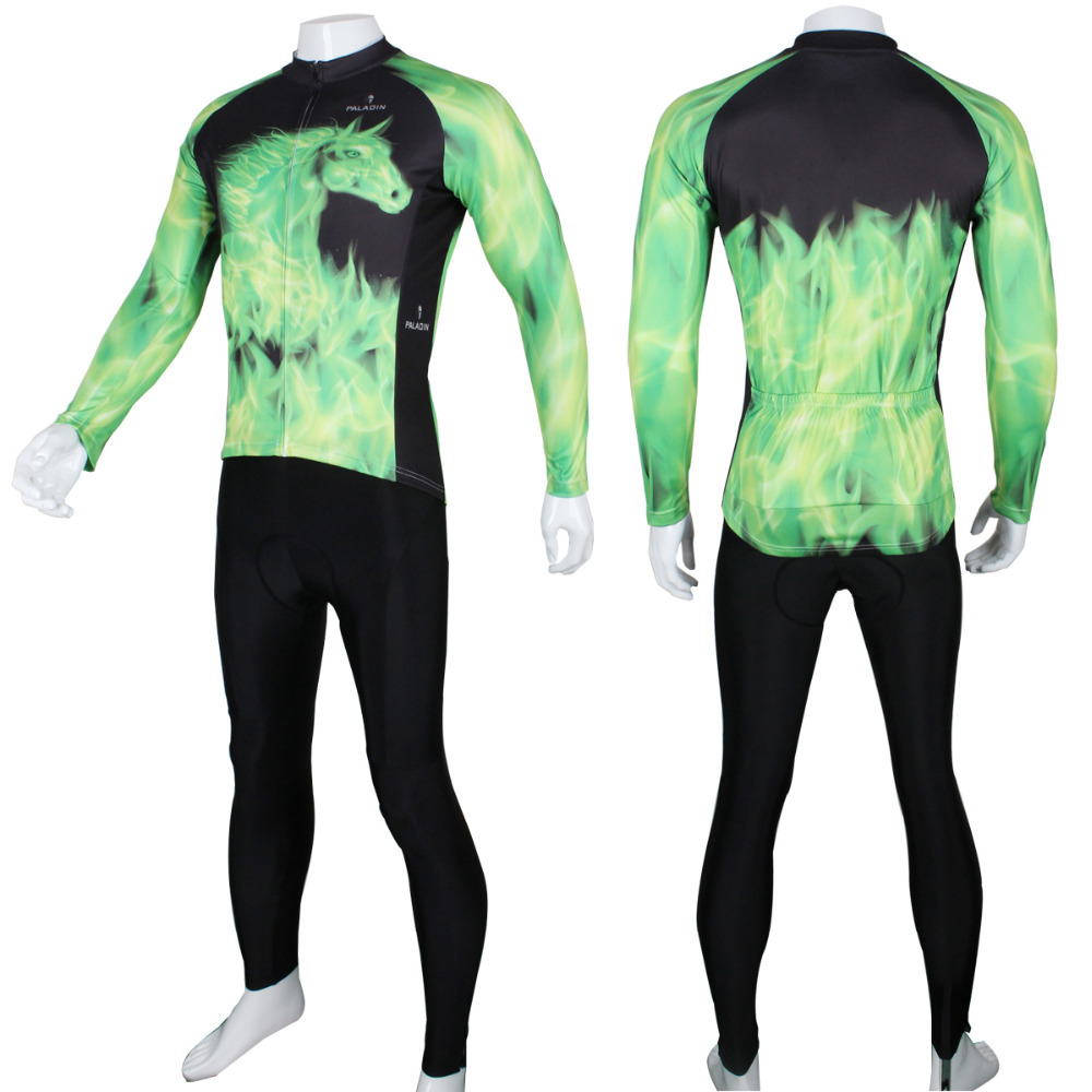 2017 Maillot Ciclismo Cycling Clothing New Flame Ghost Horse Men Long Sleeve Cycling Polyester Bicycle Breathable Size S-6xl  2017 mavic maillot ciclismo zebra pattern men personality long sleeve cycling breathable bike bicycle clothes polyester s 6xl