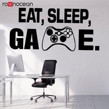 Gamer Wall Decor Playstation Controller Decal Eat Sleep Game Video Vinyl Sticker Kids Bedroom Decals 3090