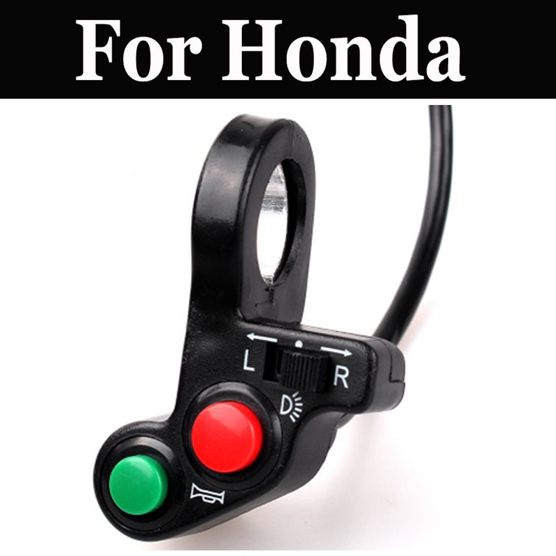 3 In 1 Motorcycle Switches Button Horn Turn Signal High Low For <font><b>Honda</b></font> Cj 360t <font><b>Cl</b></font> 350 250 <font><b>400</b></font> 450 Cm 250t 125 200 250t 400t 450 image