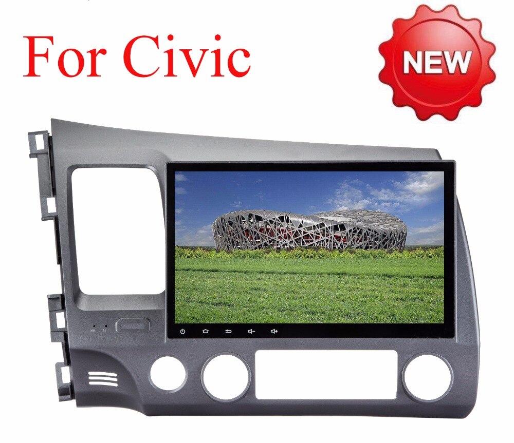 imágenes para Android 6.0 2 DIN 10.1 Quad Core Vídeo Del Coche dvd GPS para Honda Civic 2006-2011 Acura CSX pantalla Capacitiva 1024*600 + wifi + 2G RAM
