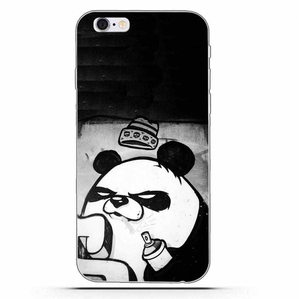 Banksy Panda Grafiti sztuki fajne TPU nowy styl dla Huawei G7 Y6 II Y7 dla Xiao mi czerwony mi uwaga 2 3 5 mi 3 4 4C 4I 5S 5X6X8 SE Pro