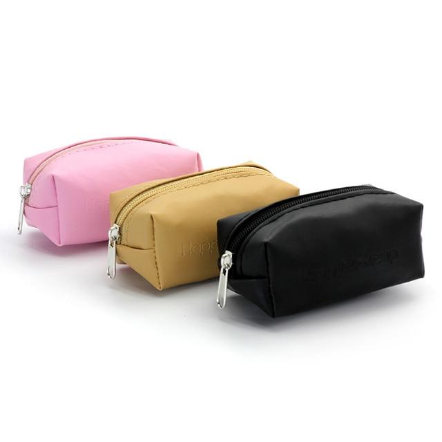 Portable 3 Colors Cosmetic Bag Organizer Storage Women Makeup Bags Female Zipper Bag Travel Make Up PU Pencil Pouch Case Holder