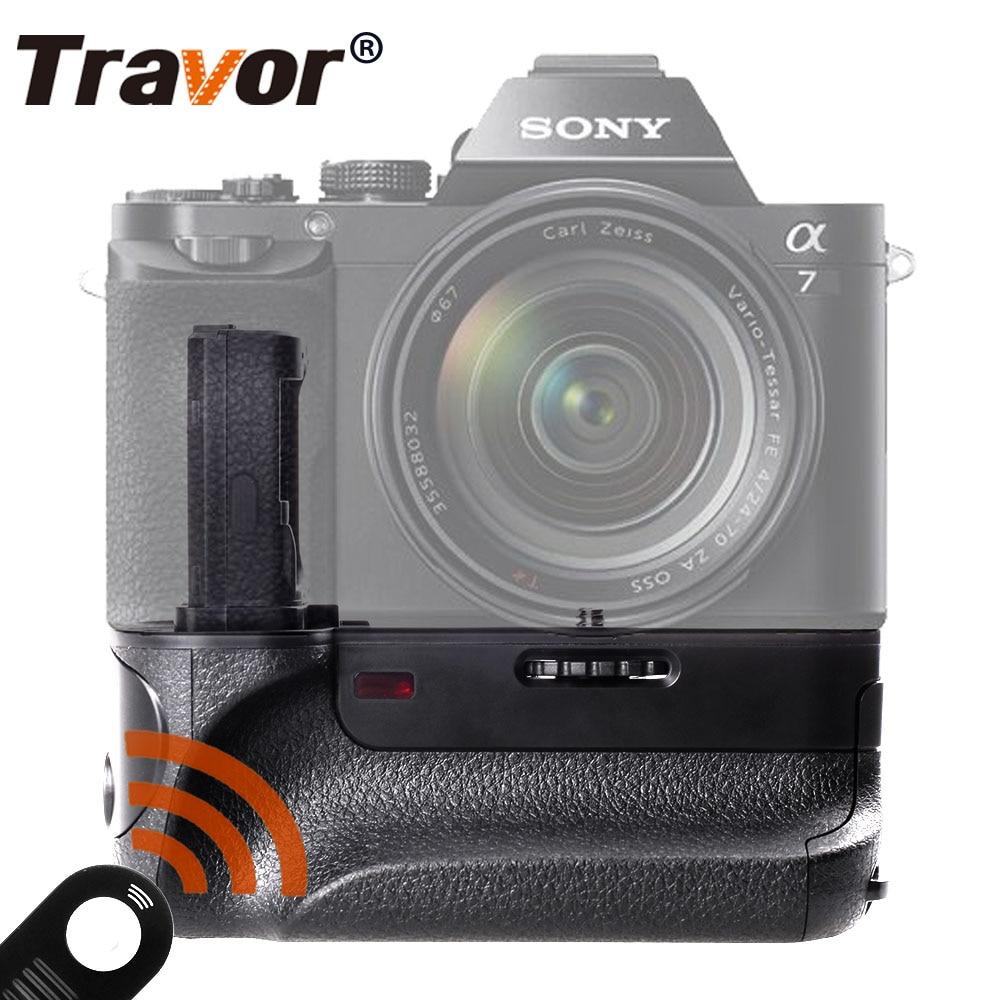 Poignée de batterie verticale Travor pour appareil photo sans miroir Sony A7 A7R A7S avec fonction IR fonctionne avec une batterie NP-FW50 comme VG-C1EM