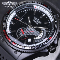 VENCEDOR Marca Mens Relógios Relogio Vintage Sports Relógios Militar Do Exército mecânico Automático Relógio com Pulseira de Silicone