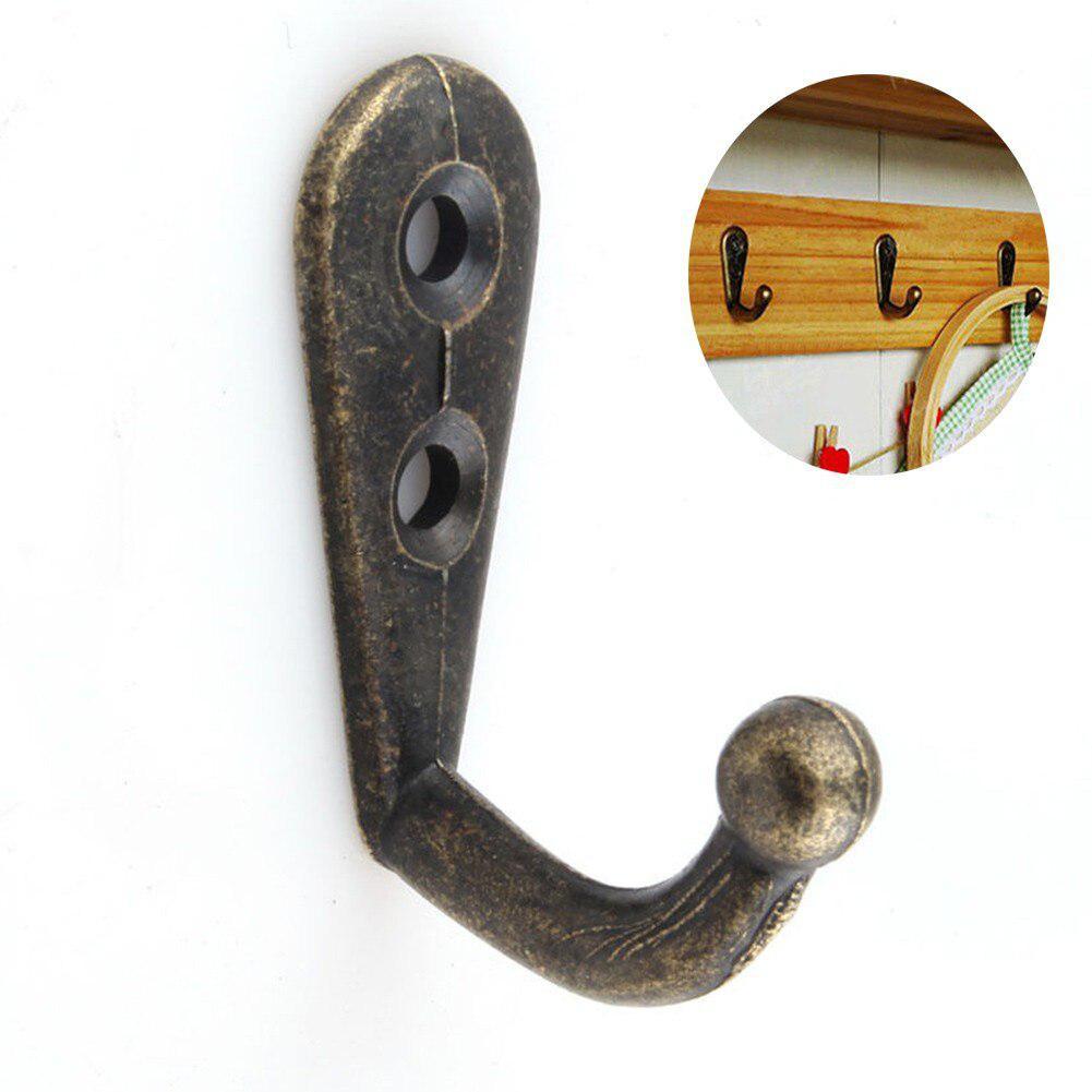 1pc/10pcs Antique Bronze Wall Hooks Hanger Vintage Hanger Hooks Storage Organizer For Clothes Coat Hat Bags Towel Home Decor