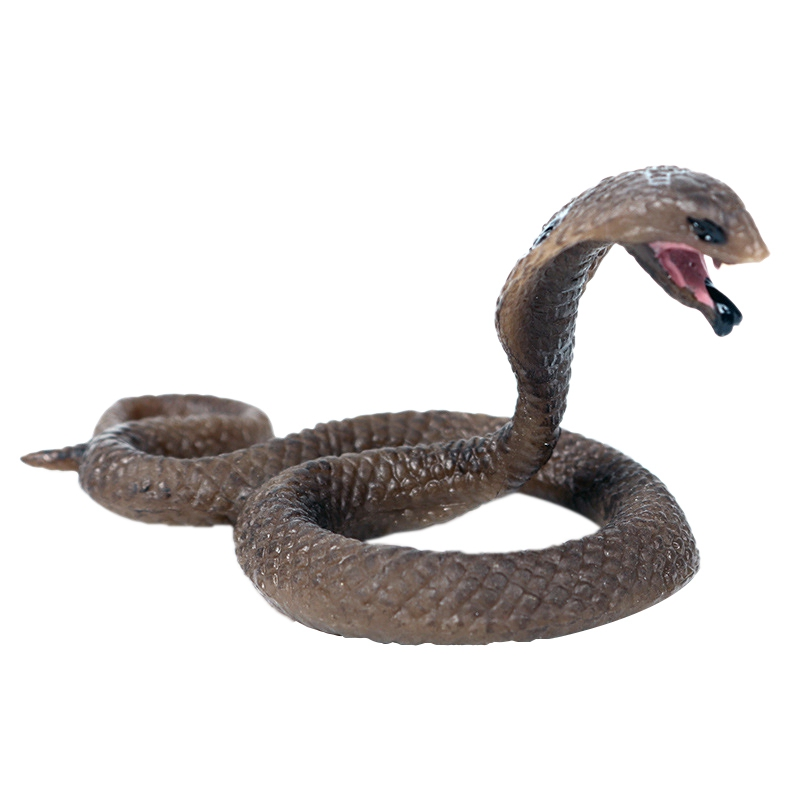 Solid Simulation Wildlife Snake Toy King Cobra Small Cobra Model Amphibian Reptile Decoration