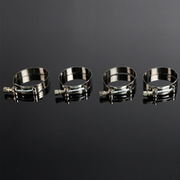 Universal 2.5'' Stainless Steel T-Band Clamp + Flange Turbo Exhaust Downpipe