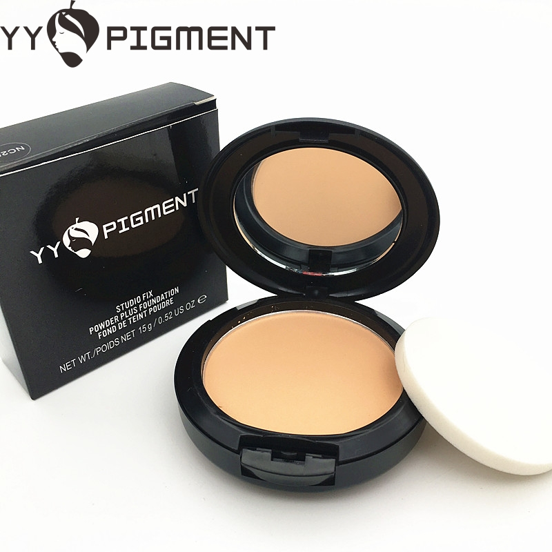 Brand Professional Powder Foundation Waterproof Oil-free Pressed Powder Base Concealer Contour Palette Mineral Makeup image
