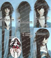 FREE P&P>>>>>Cosplay Pandora Heart of bloodstained black rabbit Alice long straight wig