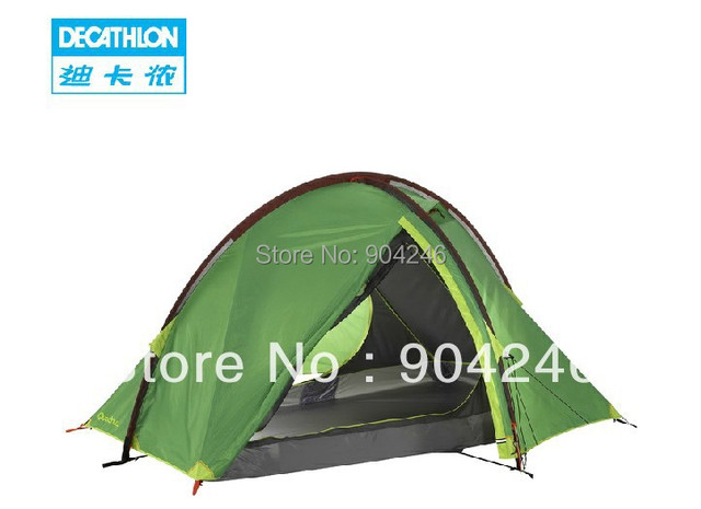 dec3d3e9f DECATHLON Outdoor camping mountaineering tent 3-person bunk Hiking QUECHUA  QuickHiker I
