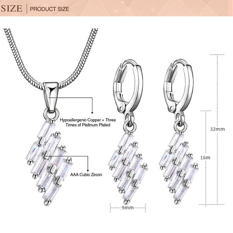 CARSINEL Lila Schmuck Sets für Frauen Trendy Silber farbe - Modeschmuck - Foto 6
