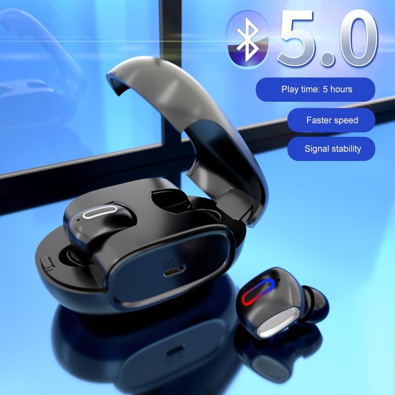 G2 Bluetoth V5.0 TWS dans l'oreille sans fil écouteurs stéréo Sport HiFi Bluetooth casque avec contrôle tactile mains libres boîte de charge
