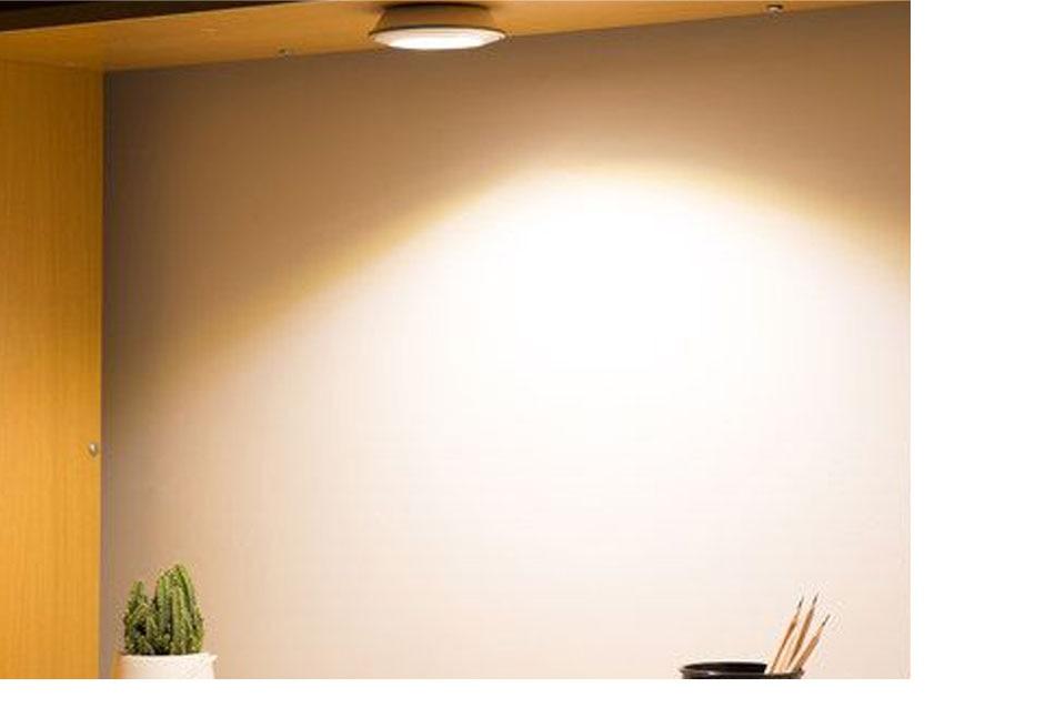 21PCS Under Cabinet Lamps 3W Motion Sensor IR Silver Round LED Puck Counter Led Lights Closet Cupboard Wardrobe Locker Lighting (16)