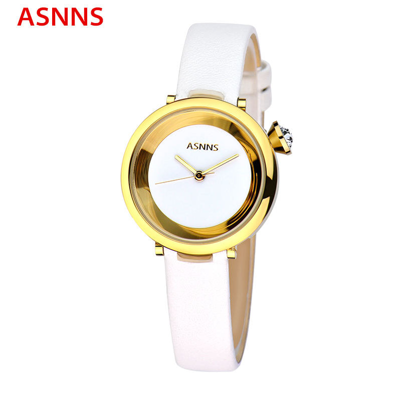 ФОТО ASNNS Brand Top Luxury Women Gold Watches Casual Fashion Ladies Dress Watch Unique Design Wristwatch relogio feminino