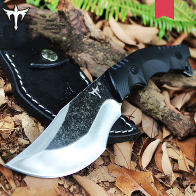 outdoor knives, wild survival portable straight knife, jungle wilderness knife, self-defense carry knife high hardness tool