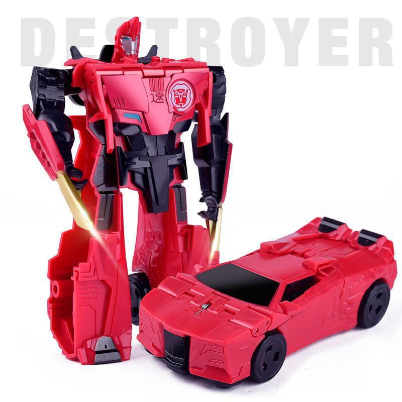 2 In 1 Vervorming Auto Robot Actiefiguren Voertuig Dinosaurus Transformatie Speelgoed Voor Kinderen Gift Brinquedos Het Speeksel Verversen En Verrijken