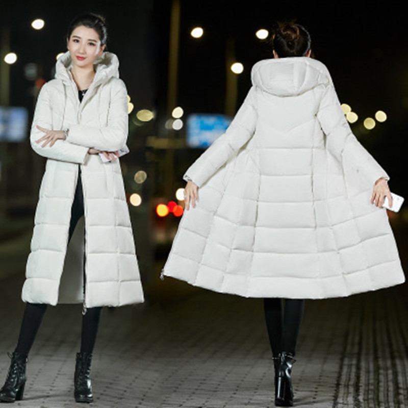 New 2018 Winter Jacket Women Hooded Thick Cotton Coat Warm Long Jacket Female Outerwear   Parka   Chaqueta Feminino M-6XL CC649