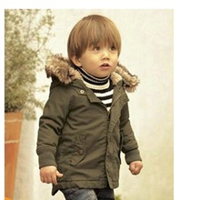 2015 New fashion winter style children plus thick warm hooped coat kids jackets child kids down jacket for baby boys