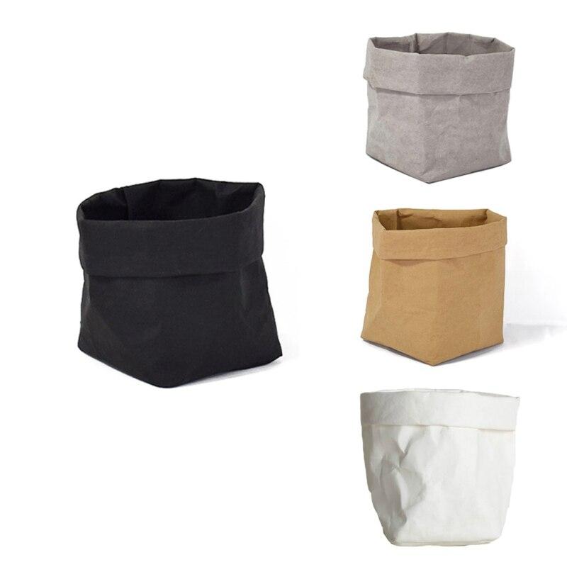 Pouch Storage-Bags Planter Sundries-Organizer Kraft Washable Mini Children Home Flowerpot-Bag